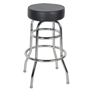Chrome Bar Stool with Black Seat for Rent