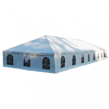 Full setup with frame tent sidewalls