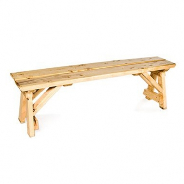 Natural Wood Bench for Rent