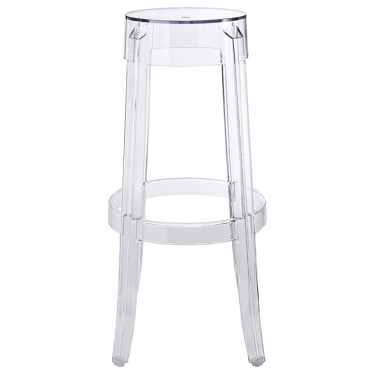 Kartell ghost bar stool side view