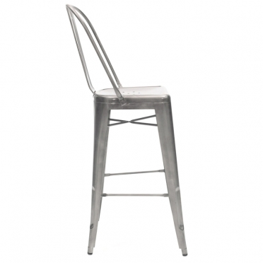 Gunmetal bar stool side view