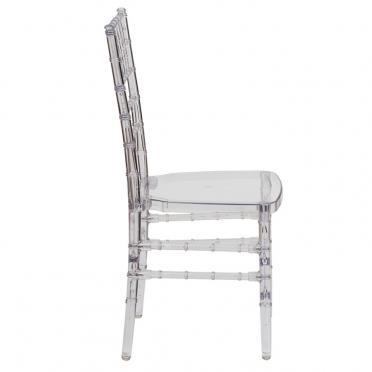 Ghost Chiavari chair side view