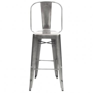 Gunmetal bar stool front view