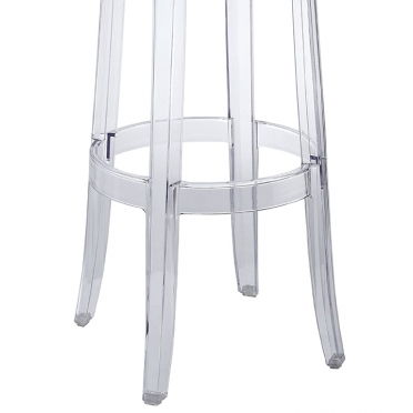 Kartell ghost bar stool bottom view