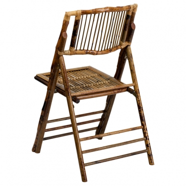 Bamboo folding chair corner view
