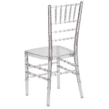Ghost Chiavari chair corner view