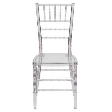 Ghost Chiavari chair front view
