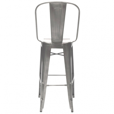 Gunmetal bar stool back view