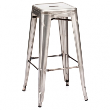 Gunmetal Backless Bar Stool for Rent