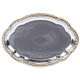 Stainless Gold Trim Oval Tray for Rent