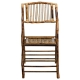 Bamboo folding chair front view