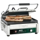 Commercial panini grill with grilled panini
