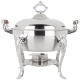 5 qt Round Wood Handle Stainless Chafer for Rent