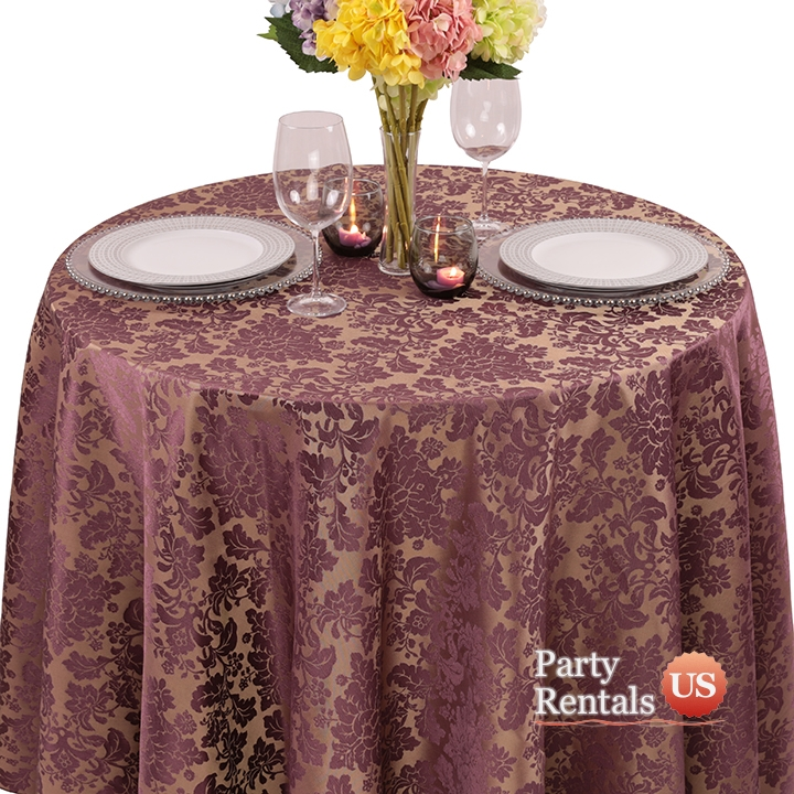 Damask Renaissance Tablecloth for Rent