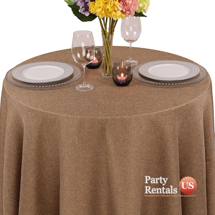 Wondrous Faux Burlap Tablecloth Evergreenethics Interior Chair Design Evergreenethicsorg