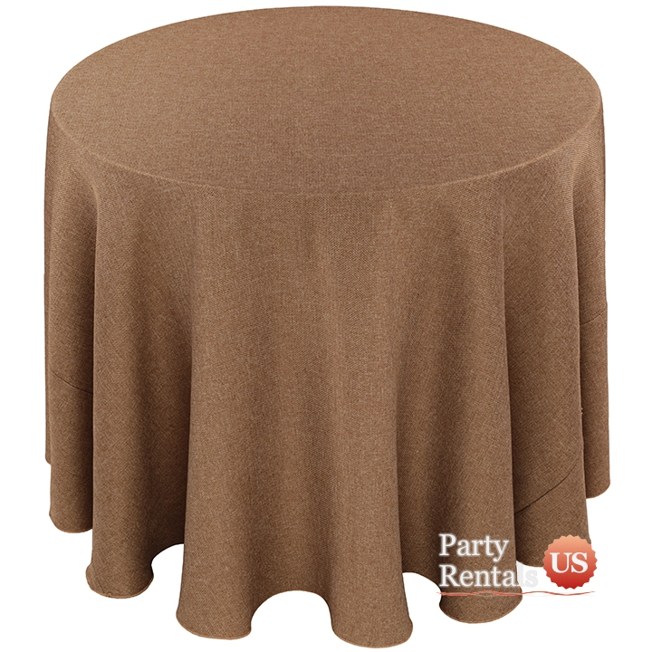 Faux Burlap Tablecloth