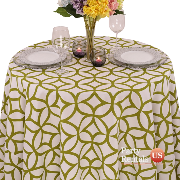 Geometric Prints Retro Cirque Tablecloth for Rent