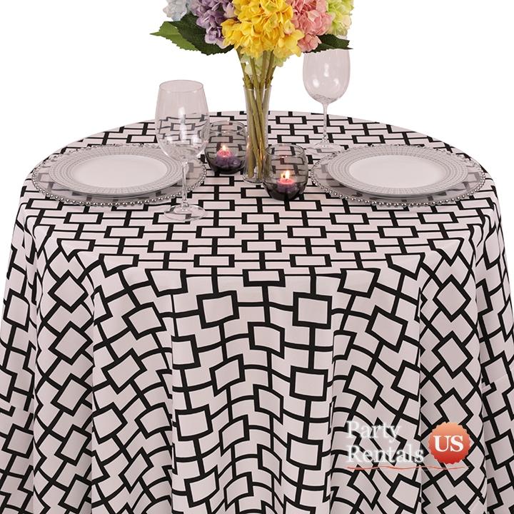 Geometric Prints Liberty Square Tablecloth for Rent