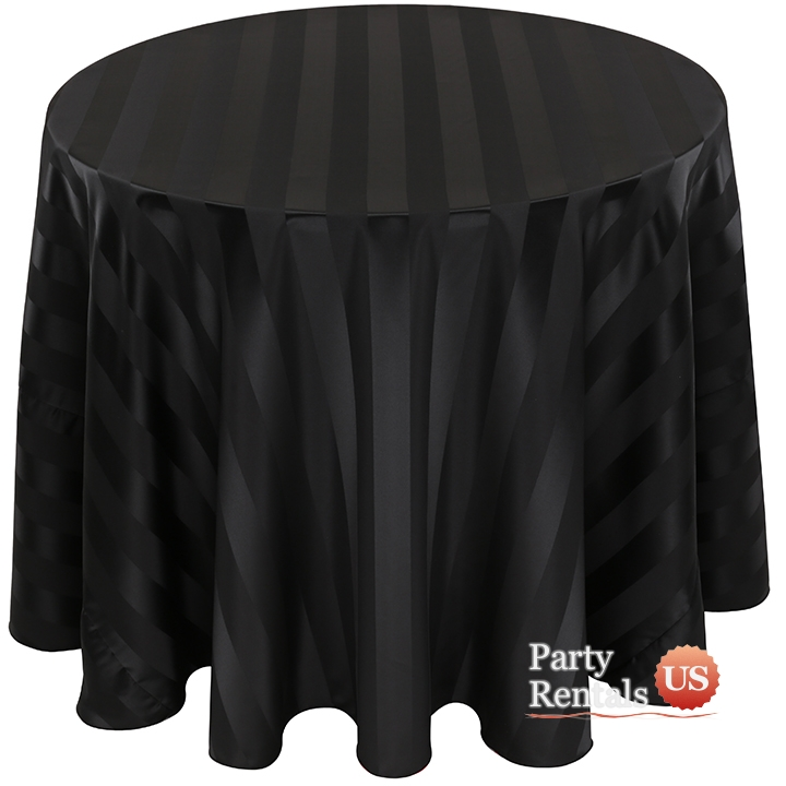 Stripe Satin Tablecloth for Rent