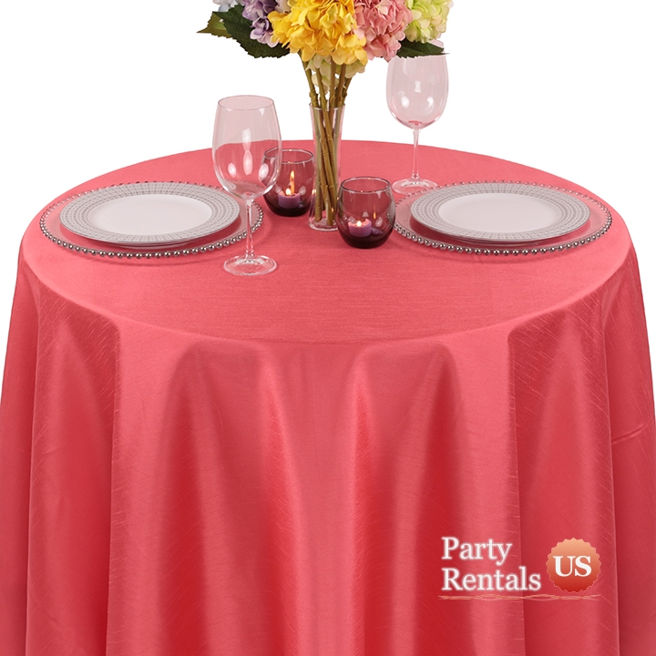 Faux Dupioni Tablecloth for Rent