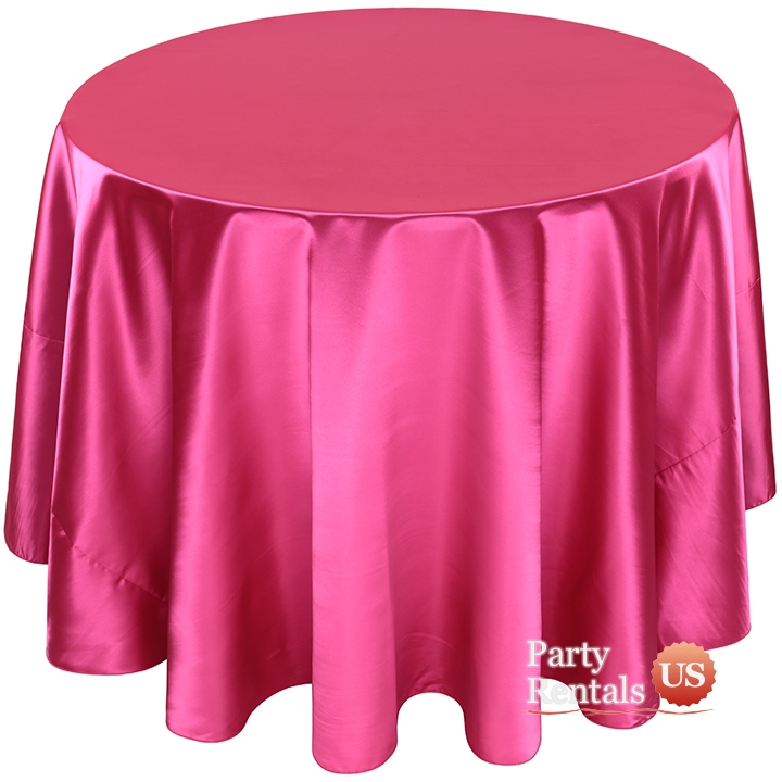 Poly Satin Tablecloth for Rent