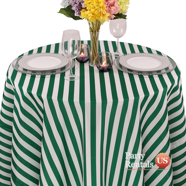 Colored Prints Awning Tablecloth for Rent