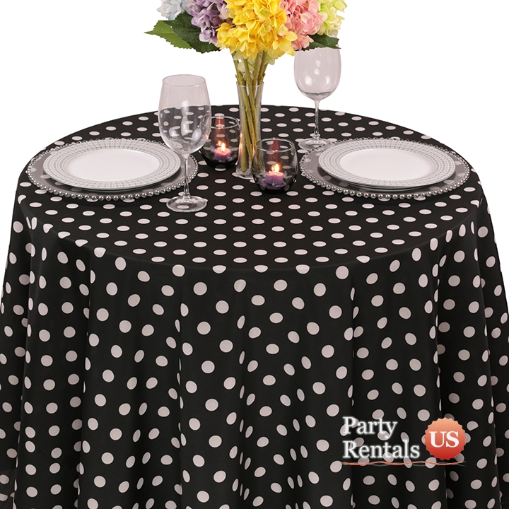 Colored Prints Dots Tablecloth for Rent