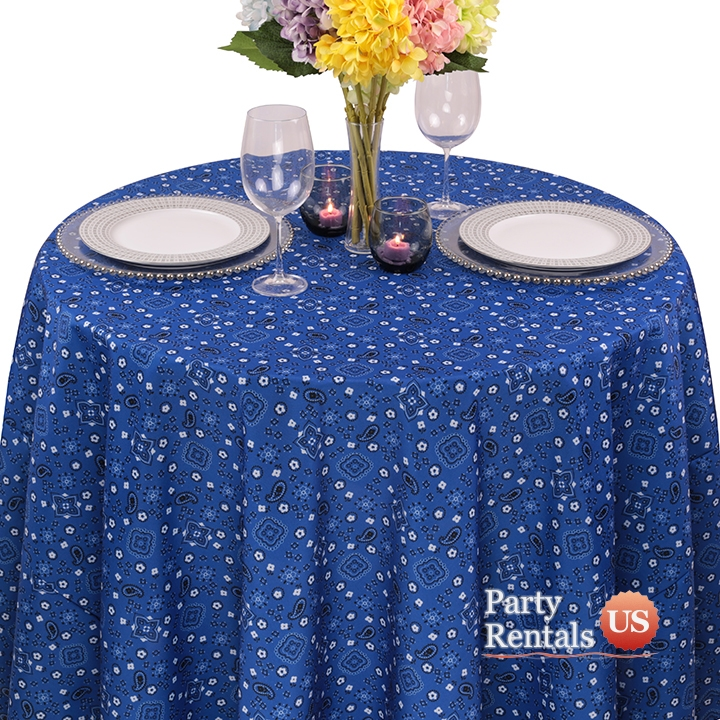 Colored Prints Bandana Tablecloth for Rent
