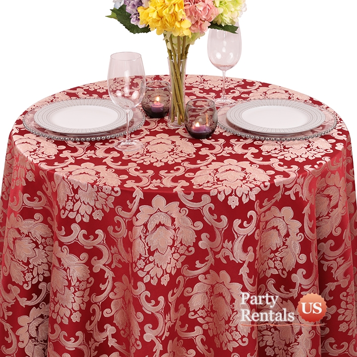 Damask Beethoven Tablecloth for Rent